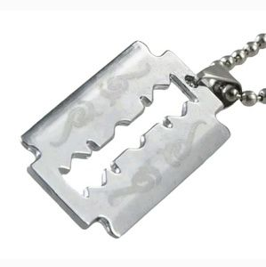 Other - Razor Blade Tribal Necklace Pendant Charm Gift